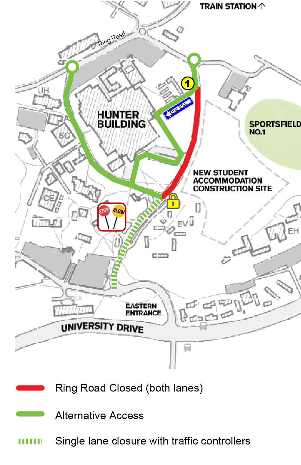 UoN Campus Map - Two