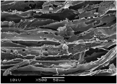 a) micro-structure of PLGA reinforced  with TiO2 particles [20]