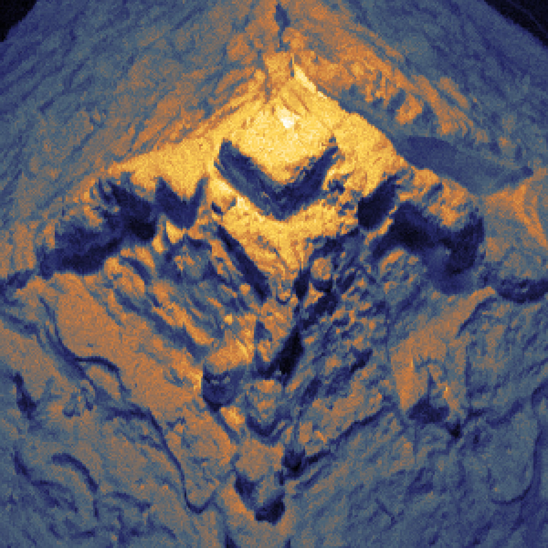Salt crystal as seen through the SHeM