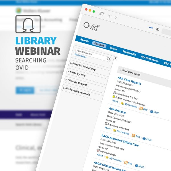 Library Webinar Searching OVID