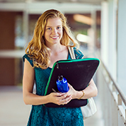 Female student with a folder