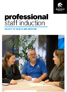 Professional staff induction booklet
