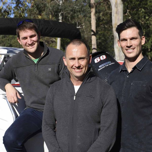 Dr Vincent Raoult, Dr Troy Gaston and Rhys Richards