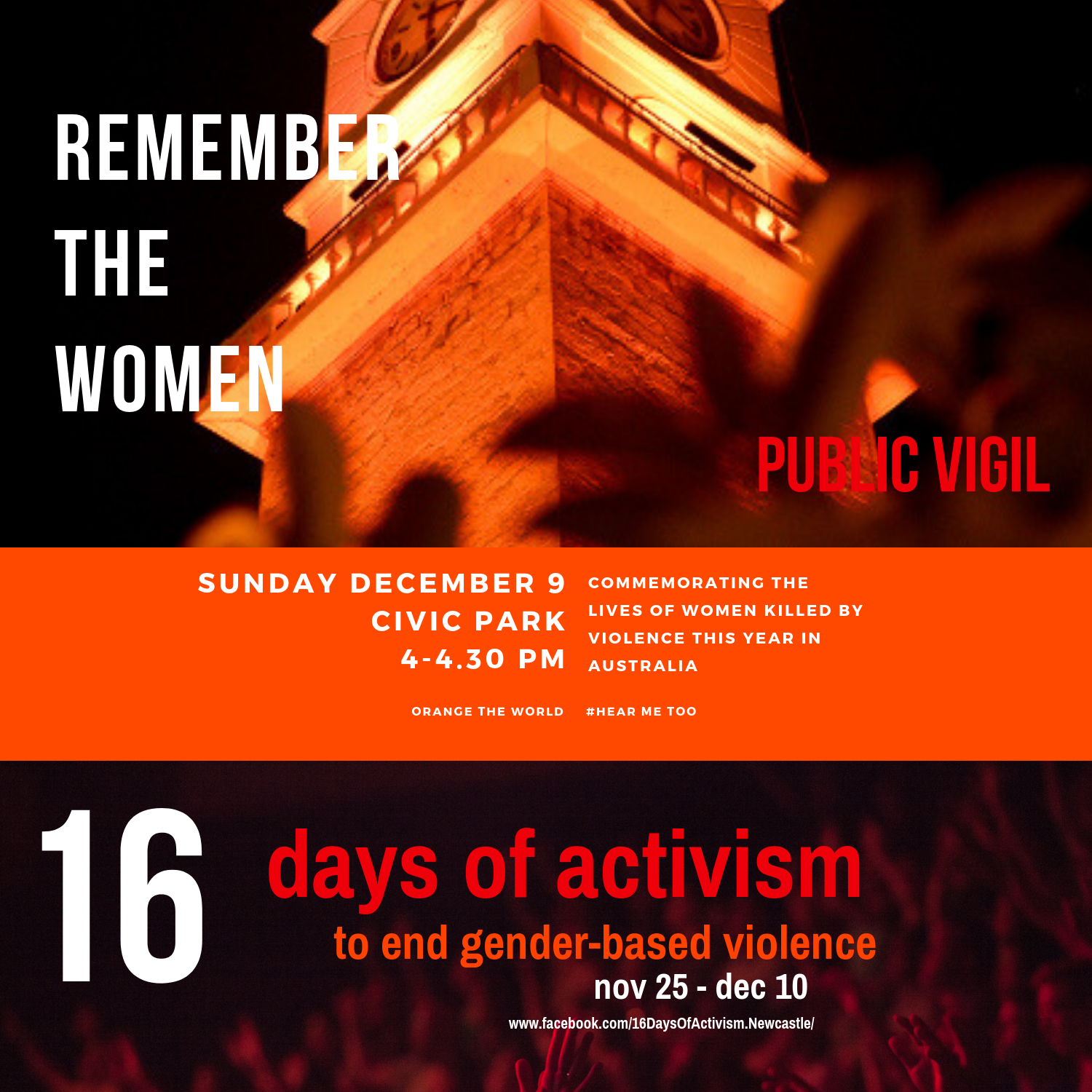 Remembering the women - public vigil