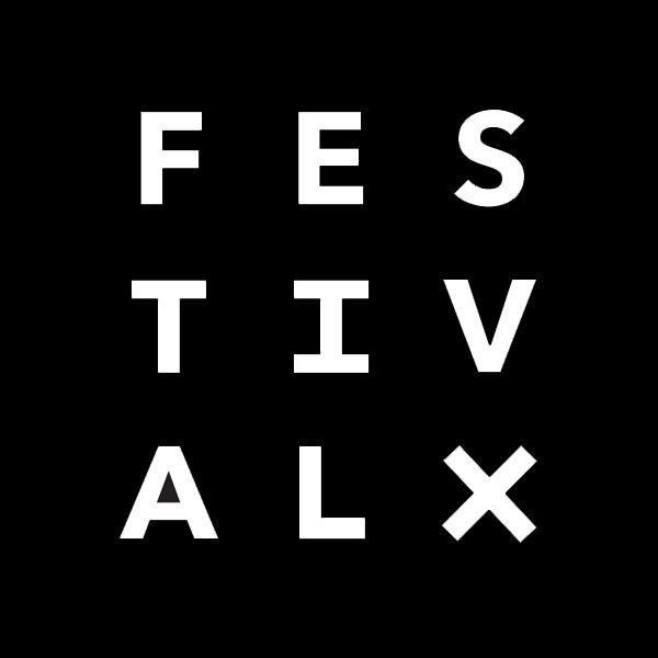 Festival X logo black & white