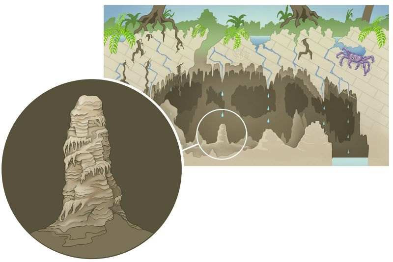 Nikki's image of a stalactite in a cave