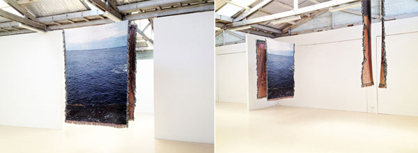 Deb Mansfield 'Bay of Fires Ocean'  (2014)  Photo-tapestry, 150cm x 120cm, Edition of 5