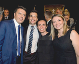Italian PM meets UON Staff at a post-G20 function
