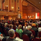 A packed crowd enjoys an event from the 2016 Newcastle Writers Festival