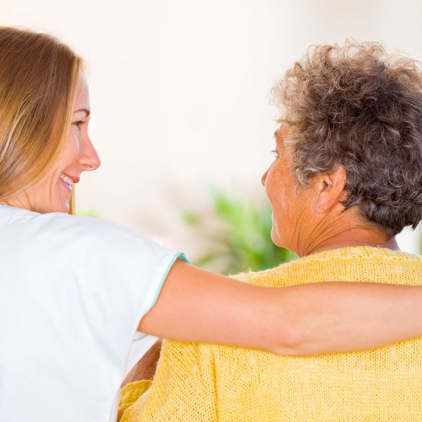 Picture of dementia patient with carer