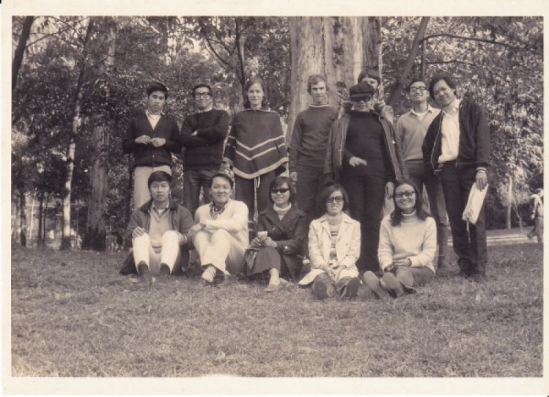 Students at Blackbutt Reserve in 1970