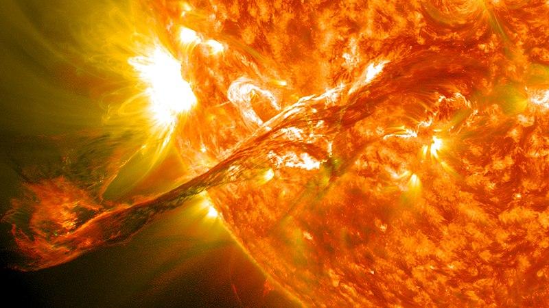 Eruption on Sun