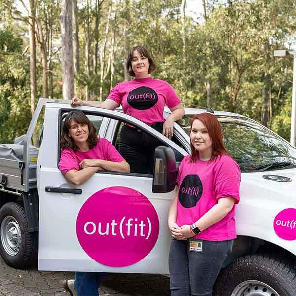 Out(fit) Team, Winners in the Green Gown Awards Student EngagementShellie Smith, d'Arcy Newberry-Dupre, Miranda Cunningham