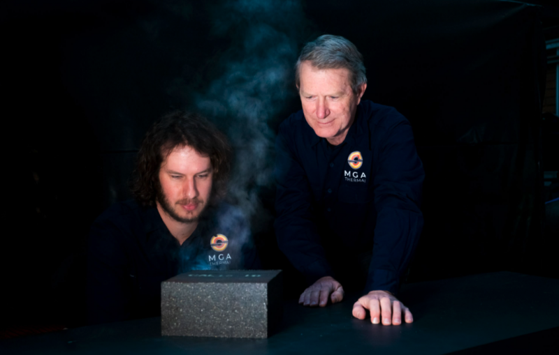 researchers with steamy block