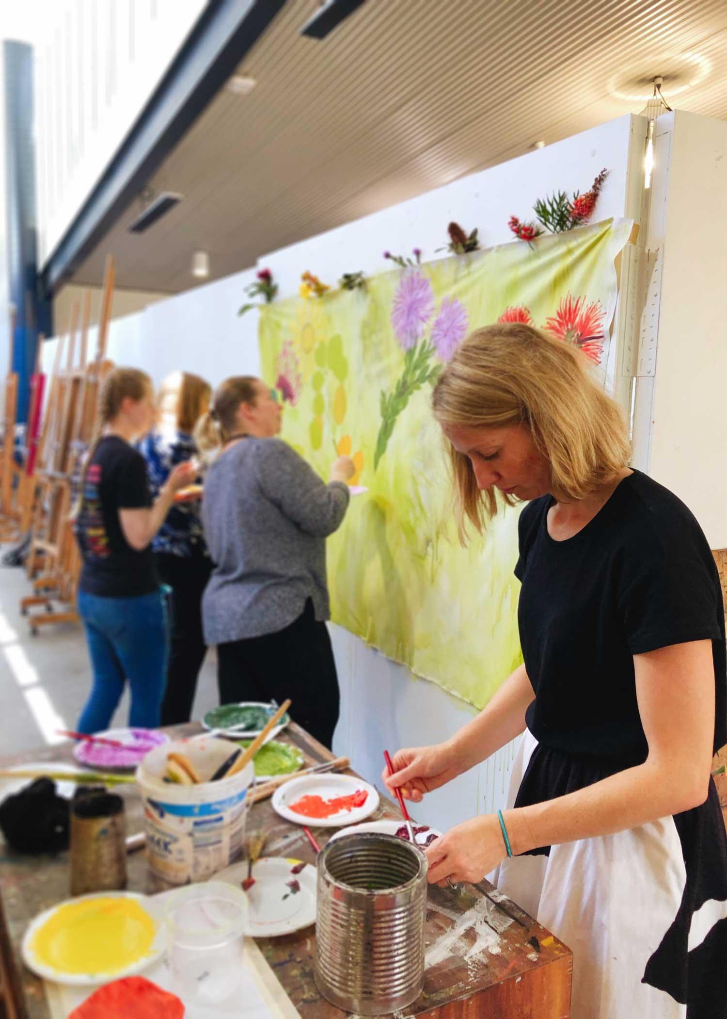 Dr Julia Coffey Collaborative Art Workshop