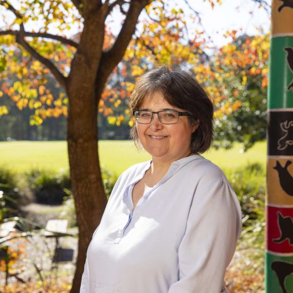 Associate Professor Kathleen Butler outside the Wollotuka Institute