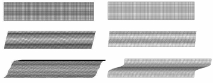 Modelling plane shear of a sand layer