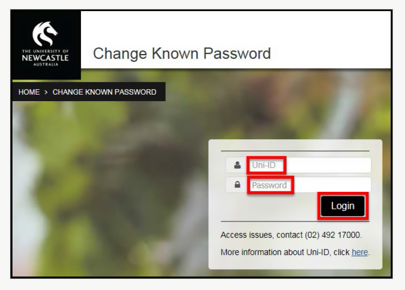 Change known password