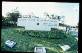 NCAE sign 1980s