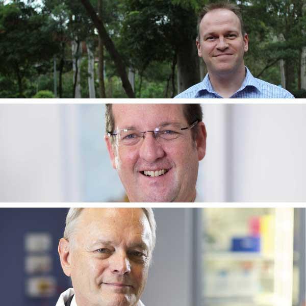 Professors Lee Smith, Brett Ninness and John Aitken