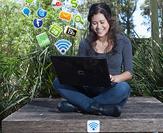 wireless internet user on campus
