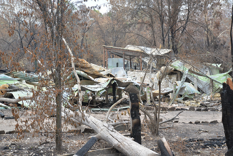 A destroyed property in Sarsfield, Victoria. (c) Peter Mackay cc