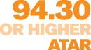 94.30 or higher ATAR