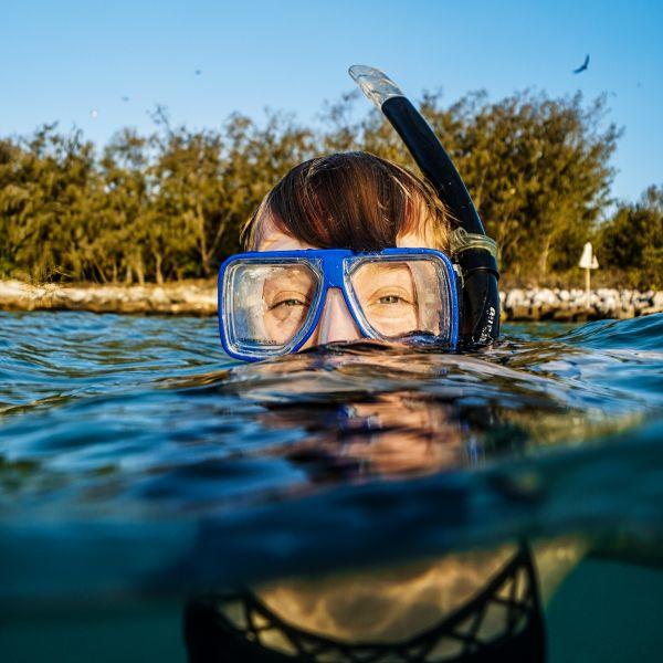 Coastal and Marine Science student underwater