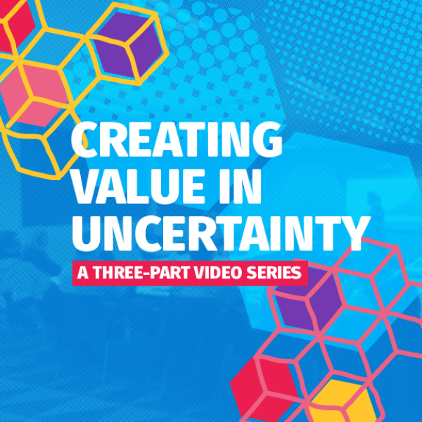 Logo - creating value in uncertainty