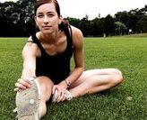 female athlete on oval