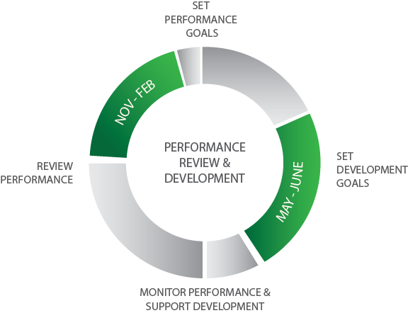 The combined PRD cycle for performance and development