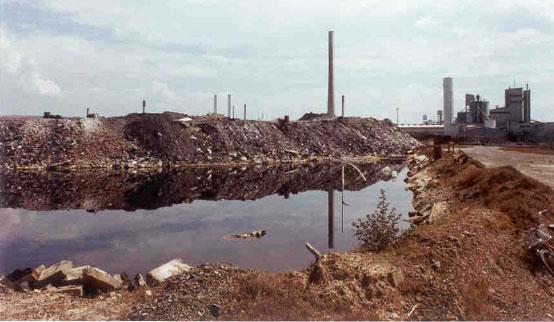 Industrial waste pile