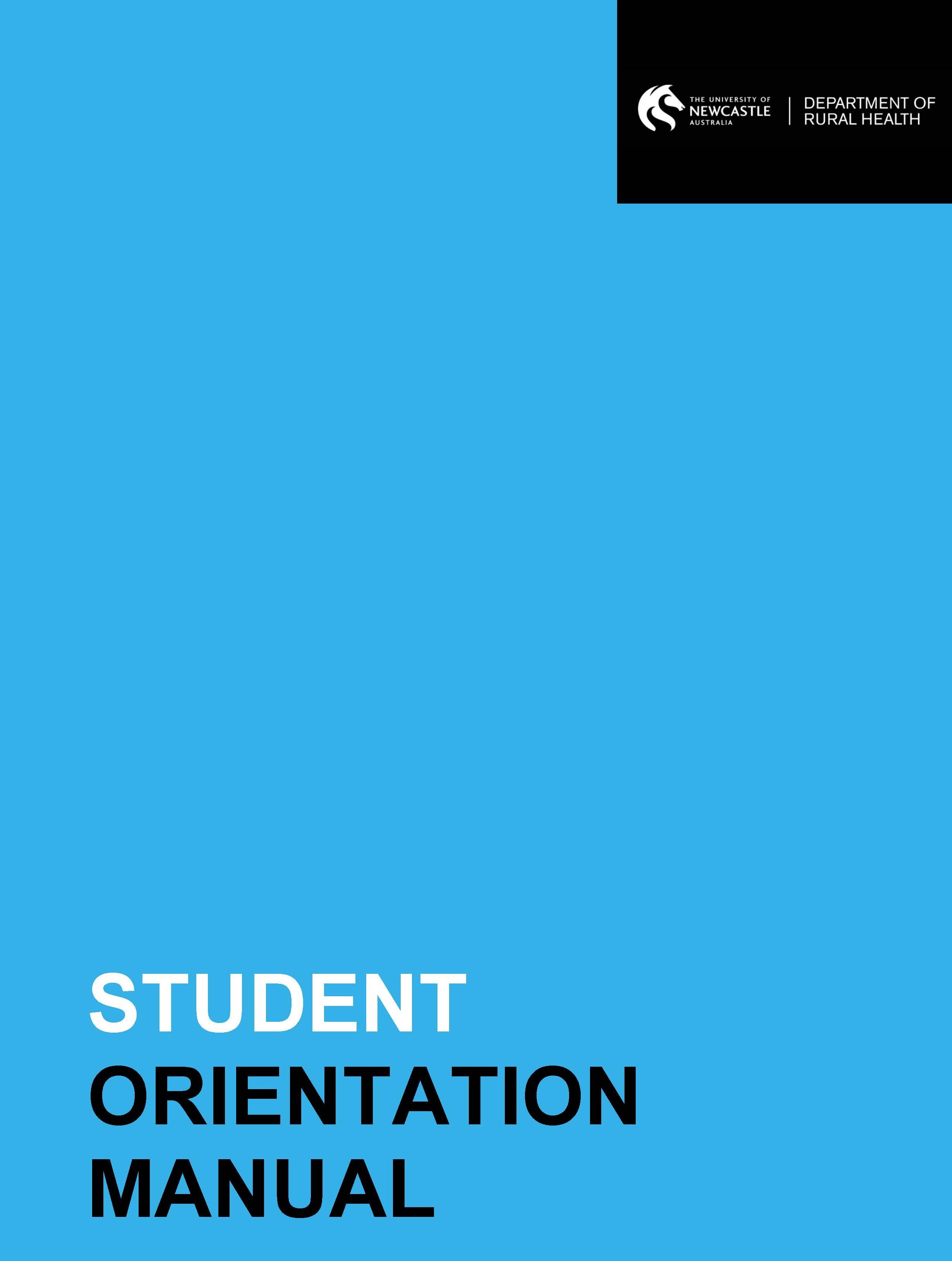 Student Orientation Manual