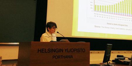 Professor Lisa Adkins at Westermarck Society, Finland