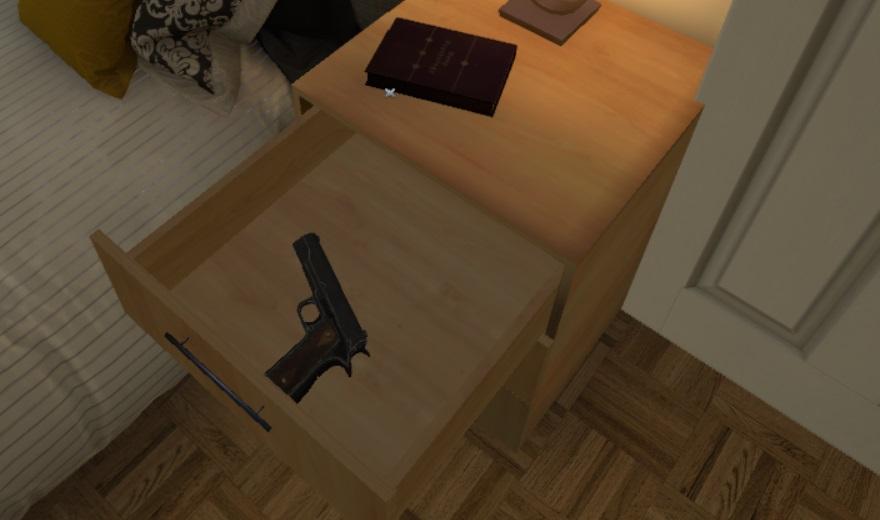 gun in draw