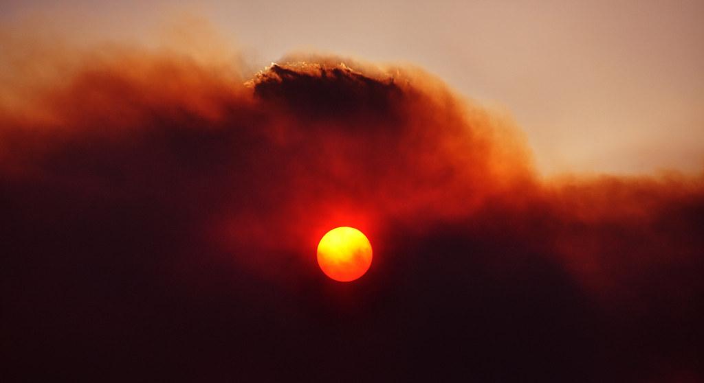Bushfire Sky in Tasmania