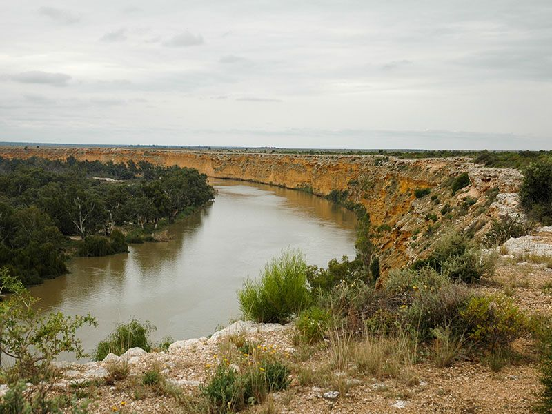 The gorge confined Lower Murray River. Photo: T Hubble.