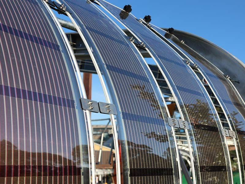 The innovative paper-thin solar is ultra flexible