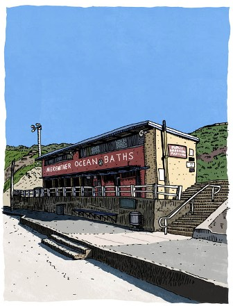 Merewether Ocean Baths by local artist Trevor Dickinson
