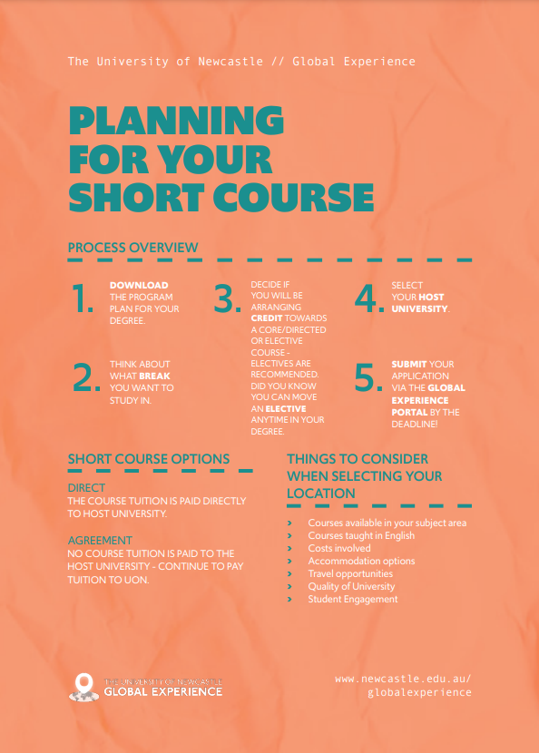 Planning for a short course