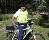 Security officer on bike