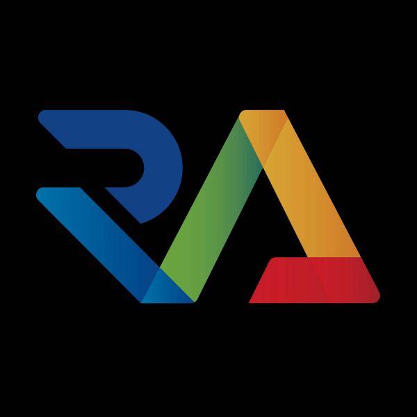Research Advantage logo - multicoloured R and A