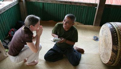 Catherine Grant in Cambodia