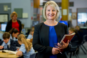 Jenny Gore in a classroom