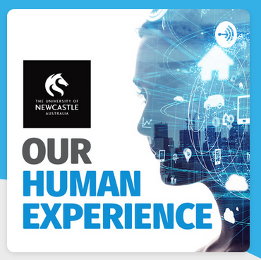 Logo for Our Human Experience podcast