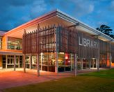 UON Central Coast library at night