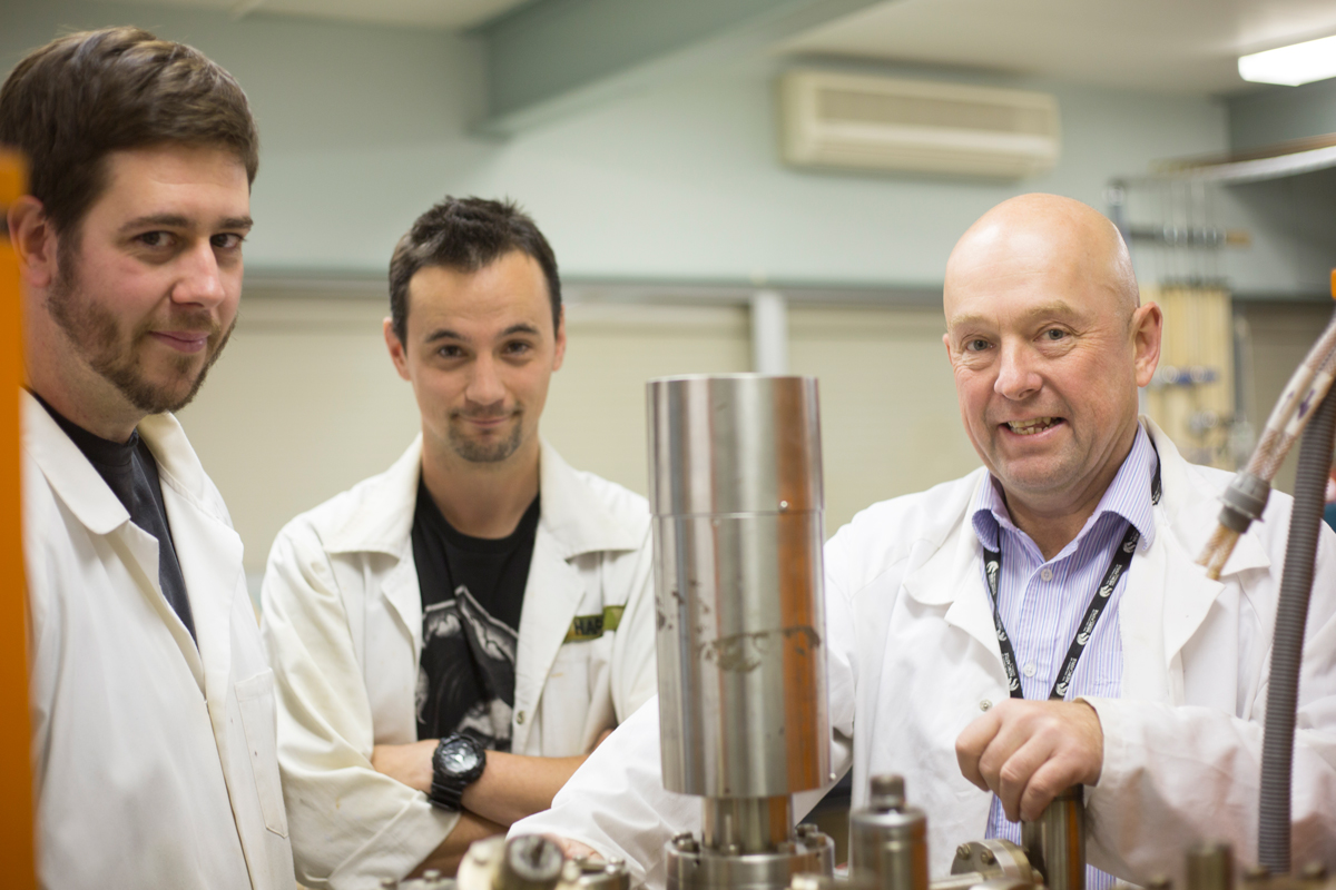 Associate Professor Michael Stockenhuber and team
