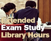 Extended hours for exam study