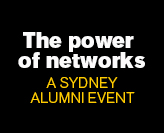 The of networks - A Sydney Alumni event