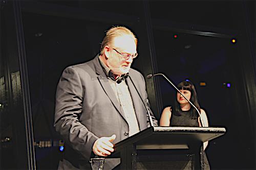 Professor Michael Ostwald at AIA Awards Ceremony